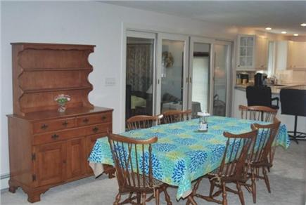 Falmouth Cape Cod vacation rental - Dining area with sliders to the deck and yard