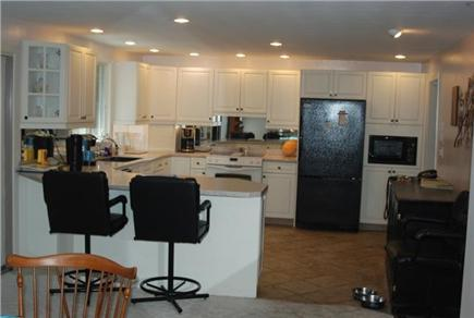 Falmouth Cape Cod vacation rental - Nicely outfitted kitchen with custom made wine cooler