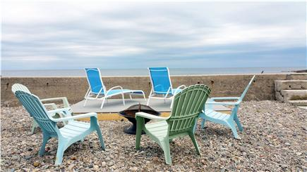 Marshfield, Brant Rock MA vacation rental - Your private deck at the seawall overlooking Brant Rock beach.