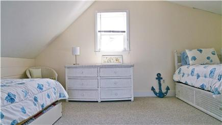 Marshfield, Brant Rock MA vacation rental - Upstairs bedroom with two twin beds with trundles and A/C unit.