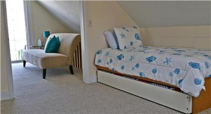 Marshfield, Brant Rock MA vacation rental - View from upstairs bedroom to loft sitting area with ocean views