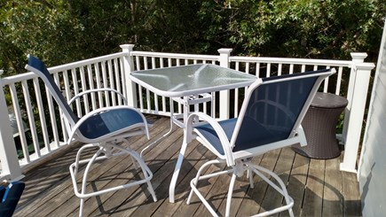 Brewster Cape Cod vacation rental - Outdoor reading and breakfast nook