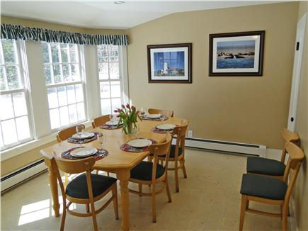 Chatham Cape Cod vacation rental - Bright dining room that seats eight