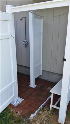 East Falmouth Cape Cod vacation rental - New large, outdoor shower w/ changing area ('14)