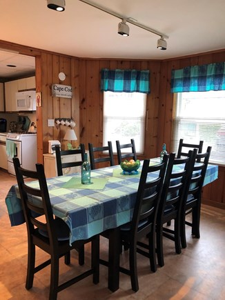 Bourne, Monument Beach Cape Cod vacation rental - Open concept living and dining room.