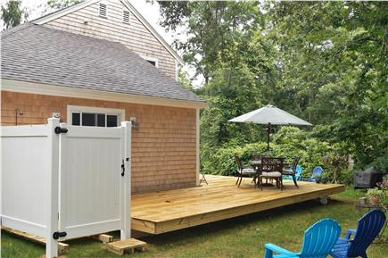 North Falmouth Cape Cod vacation rental - Outside shower & wrap around deck