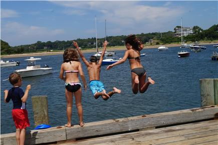 North Falmouth Cape Cod vacation rental - Pier jumping! Kids love it