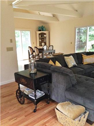 North Falmouth Cape Cod vacation rental - Living room with sliding doors to wrap around deck