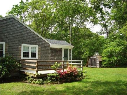 Falmouth, Teaticket Cape Cod vacation rental - Enjoy the sunny private deck equipped with grill.