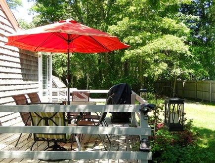 Falmouth, Teaticket Cape Cod vacation rental - Enjoy the sunny private deck equipped with grill