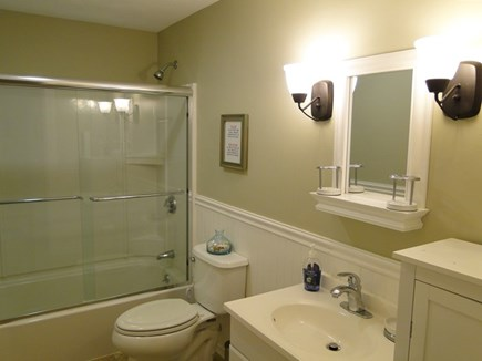 Falmouth, Teaticket Cape Cod vacation rental - Full bath with tub, glass shower
