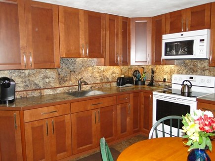 Falmouth, Teaticket Cape Cod vacation rental - Recently renovated Kitchen with Cherry Cabinets