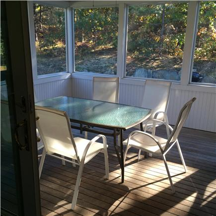 Eastham Cape Cod vacation rental - Evening dinner or lazy lunch on the screened porch, perfect!