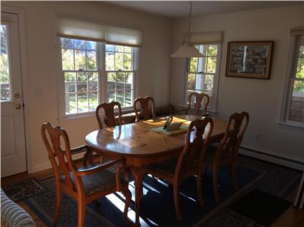 Eastham close to Campground Beach Cape Cod vacation rental - Table for meals, cards, and games.