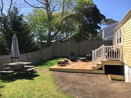 Dennisport Cape Cod vacation rental - New deck (new grass is still growing!)