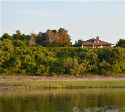 East Orleans Cape Cod vacation rental - View of house from water (photo taken from a boat)