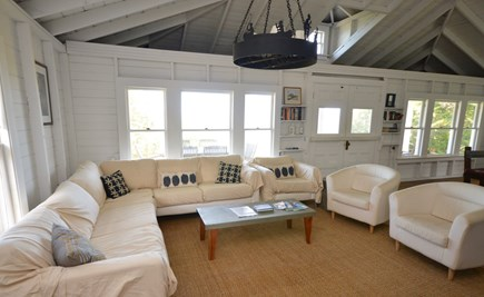 East Orleans Cape Cod vacation rental - Open living room and dining room