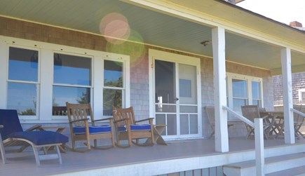 East Orleans Cape Cod vacation rental - Back deck / porch with outdoor dining and seating