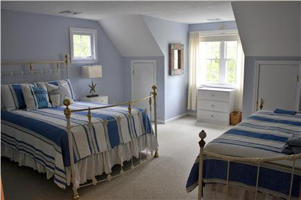 N. Falmouth Old Silver Beach Cape Cod vacation rental - 2nd Floor - Blue Bedroom with Queen Bed