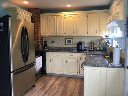 Onset MA vacation rental - Kitchen fully equiped with gas stove, dishwasher & Keurig.