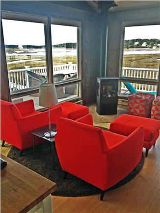 Wellfleet Cape Cod vacation rental - Living Room, deck beyond