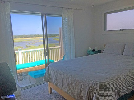 Wellfleet Cape Cod vacation rental - Master Bedroom with views to deck and water