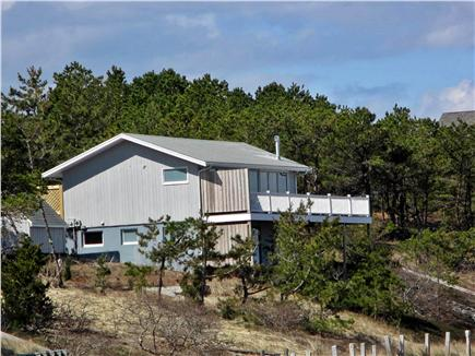 Wellfleet Cape Cod vacation rental - Side of house, privacy screen and wrap around deck
