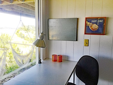 Wellfleet Cape Cod vacation rental - Desk/work space with direct access to deck and views