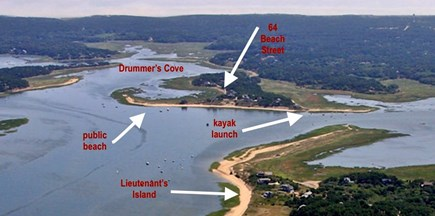 Wellfleet Cape Cod vacation rental - Aerial view of Drummer's Cove