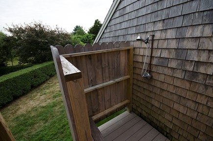 East Orleans Cape Cod vacation rental - Outdoor shower interior