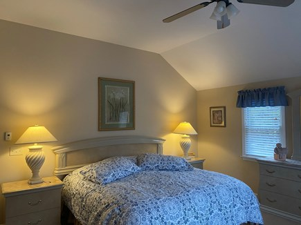 Brewster Cape Cod vacation rental - Guest Bedroom #1 King Bed, vaulted ceiling and private full bath.