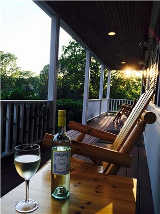 Brewster Cape Cod vacation rental - Front Porch at Sunset