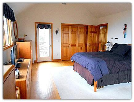 Plymouth MA vacation rental - Master Bedroom has it's own private deck
