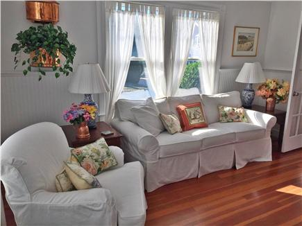 West Yarmouth Cape Cod vacation rental - Sitting room w/TV that is part of master bedroom #1.