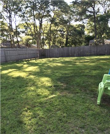 West Yarmouth Cape Cod vacation rental - Large grassy level back yard