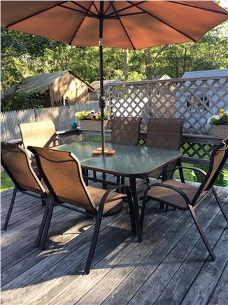 West Yarmouth Cape Cod vacation rental - Deck seating for 6
