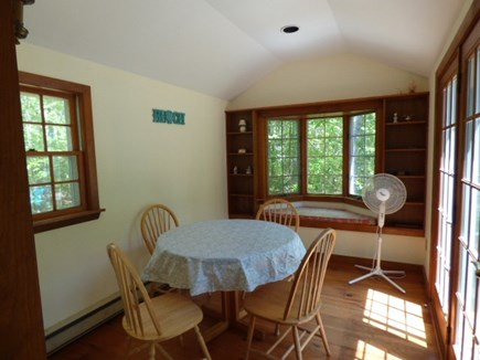 Dennis, Cape Cod Cape Cod vacation rental - Breakfast room next to kitchen with door to back patio