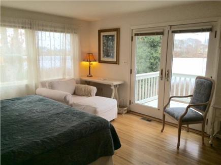 Hyannis Cape Cod vacation rental - Master bedroom w/  king bed & private balcony