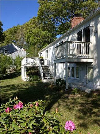 Hyannis Cape Cod vacation rental - Back side of house with 2 decks