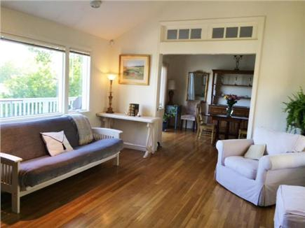 Hyannis Cape Cod vacation rental - Living room w/ futon looking into dining room