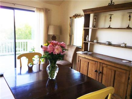 Hyannis Cape Cod vacation rental - Dining room with view onto deck