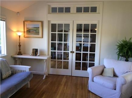 Hyannis Cape Cod vacation rental - French doors separating dining and living room