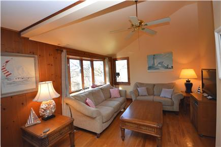 East Orleans Cape Cod vacation rental - Comfy, clean living room with large, flat screen TV