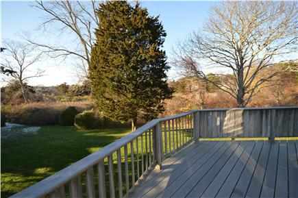 East Orleans Cape Cod vacation rental - Great deck overlooking open space and peeks of water views