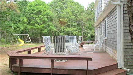 Eastham Cape Cod vacation rental - Deck and backyard swingset