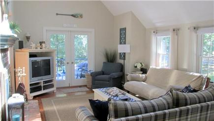 Eastham Cape Cod vacation rental - Living room with vaulted ceiling and flat screen TV