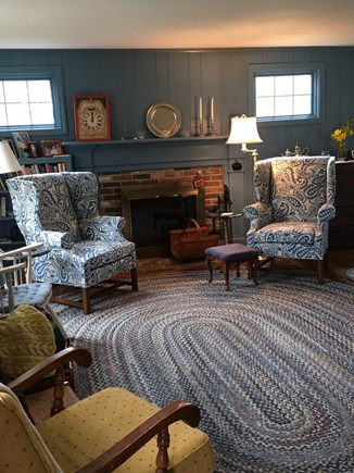 Chatham Cape Cod vacation rental - The living room is comfortable and cozy.