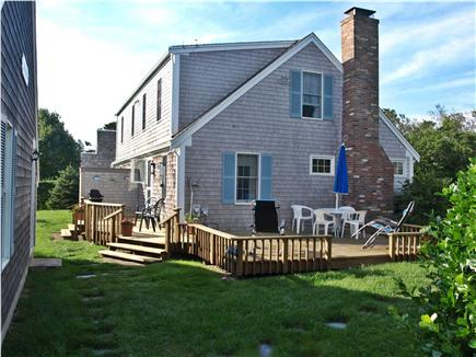 Chatham Cape Cod vacation rental - The large back yard and deck are perfect for your summer barbecue