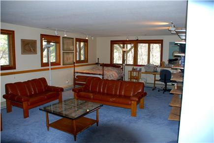 Paine Hollow/ South Wellfleet Cape Cod vacation rental - Lower level bedroom/sitting area