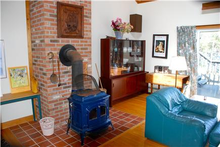 Paine Hollow/ South Wellfleet Cape Cod vacation rental - Wood stove in living room